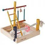اسباب بازی طرح چوبی مناسب قفس پرندگان