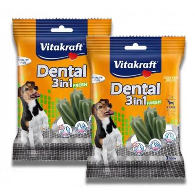 استیک تشویقی دنتال 3 در 1 سگ برند ویتاکرافت vitakraft v dental fresh 3 in 1 stick