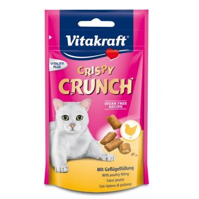 تشویقی گربه با طعم مرغ برند ویتاکرافت vitakraft crispy crunch chicken for cat