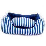 جای خواب سگ و گربه آبی راه راه مدل چیکو برند مدکاو