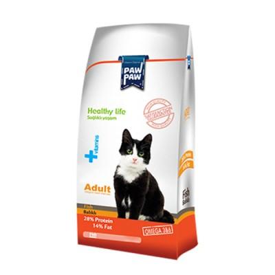غذای خشک گربه بالغ با طعم ماهی برند پاو پاو