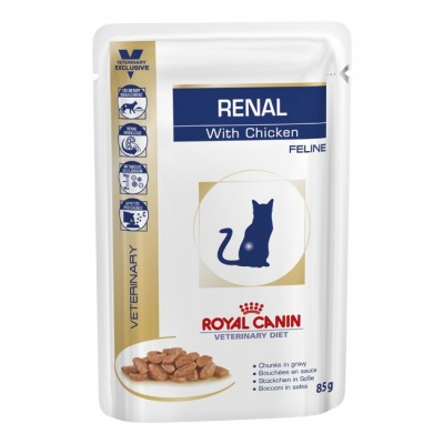 پوچ گربه مبتلا به بیماریهای کلیوی با طعم مرغ