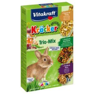 کراکر-خرگوش-با-سه-طعم-بادام-زمینی-و-نخودفرنگی-و-انگور-و-ذرت-و-عسل ویتاکرافت