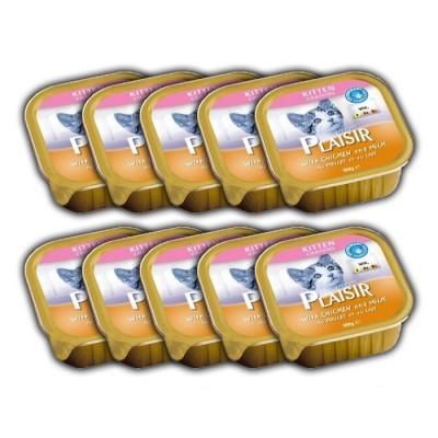 کنسرو بچه گربه حاوی مرغ و شیر برند پلایزر 100 گرمی