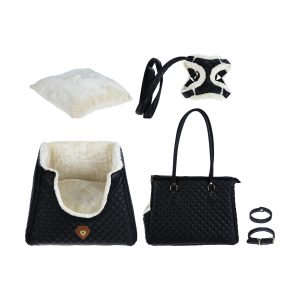 ست لاکچری جای خواب، کیف حمل و قلاده مناسب گربه برند مدکاو