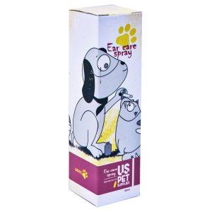 اسپری ضدعفونی کننده گوش مناسب سگ و گربه برند یو اس پت 60 میلی لیتر