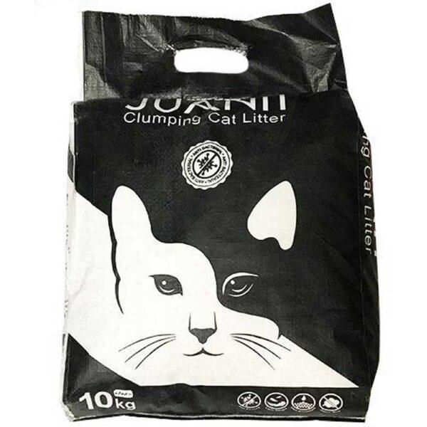 خاک کیسه ای گربه مشکی برند ژوانیت 10 کیلوگرمی