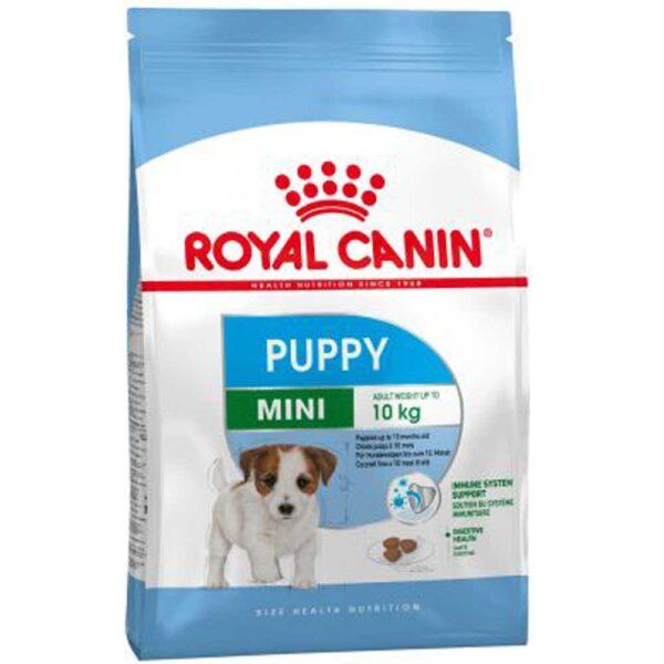 غذای خشک مینی پاپی مناسب سگ نژاد متوسط برند رویال کنین 2 کیلوگرمی