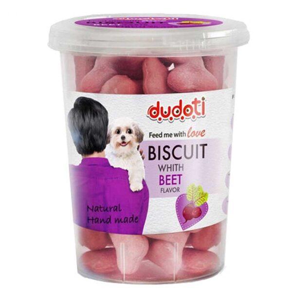 بیسکوییت مناسب سگ با طعم چغندر برند دودوتی
