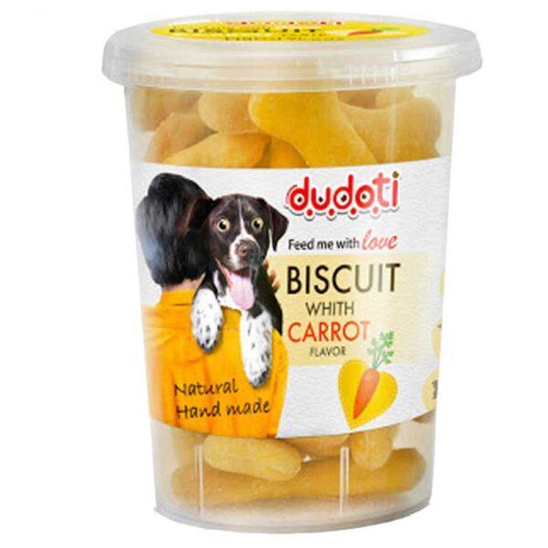 بیسکوییت مناسب سگ با طعم هویج برند دودتی