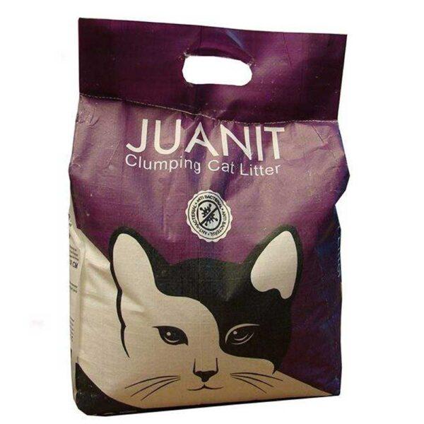 خاک کیسه ای گربه بنفش برند ژوانیت 10 کیلوگرمی