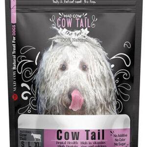 تشویقی دم گاو مناسب سگ های تمامی نژادها برند مدکاو 250 گرمی