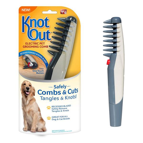 شانه گره بازکن برقی مناسب سگ و گربه برند Knot Out