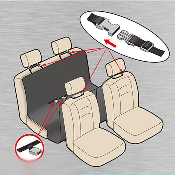 روکش صندلی خودرو با محافظ روی درب برند زاریکس