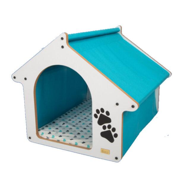 جای خواب و خانه چوبی مخصوص سگ و گربه مدل بارنی سایز 2