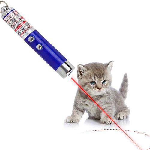 اسباب بازی لیزر چهار حالته به همراه فلش لایت مخصوص گربه