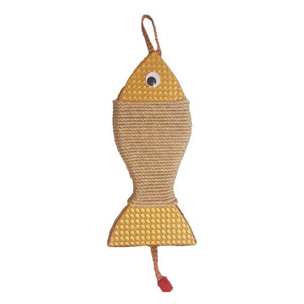 اسکرچر دیواری گربه مدل ماهی