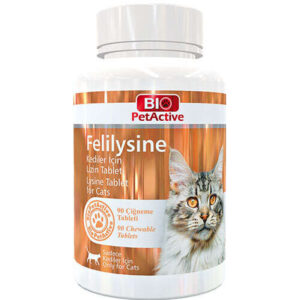 قرص لیزین گربه مخصوص تقویت ایمنی بدن برند بایو پت اکتیو