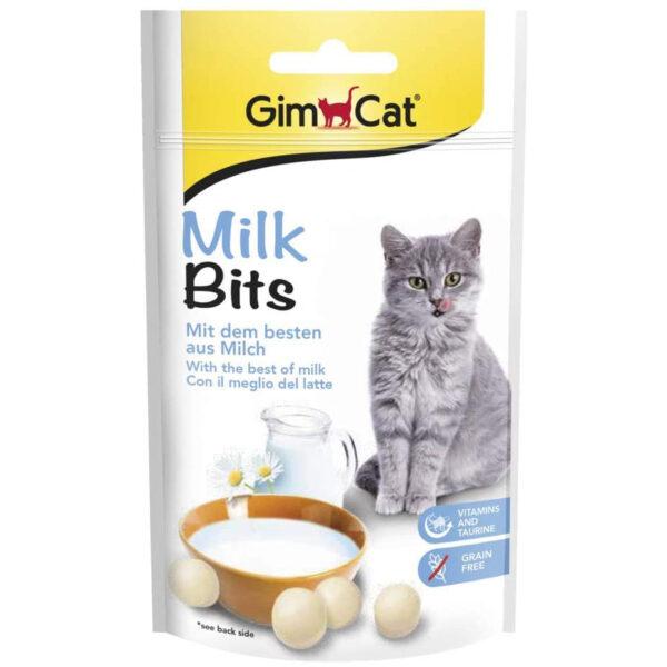 تشویقی گربه شیری جیم کت مدل Milk Bits وزن 40 گرم