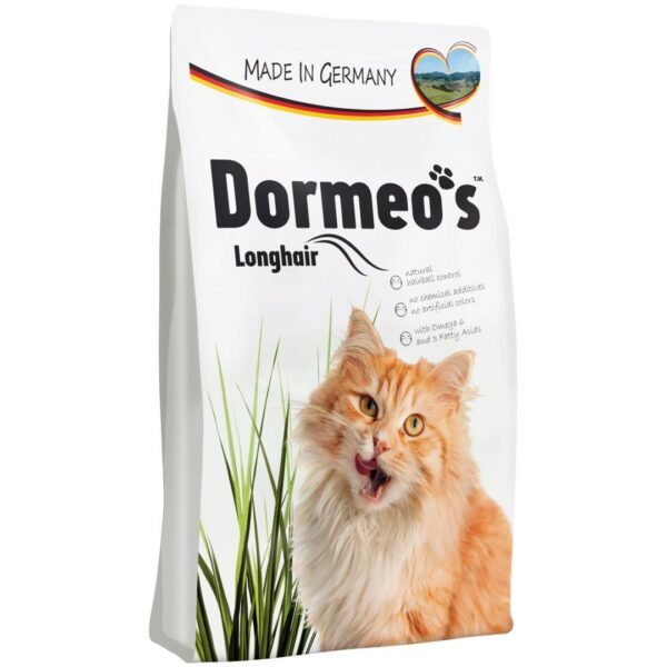 HappyCat Dormeo s Long Hair Cat Food Omega3 6 10KG scaled