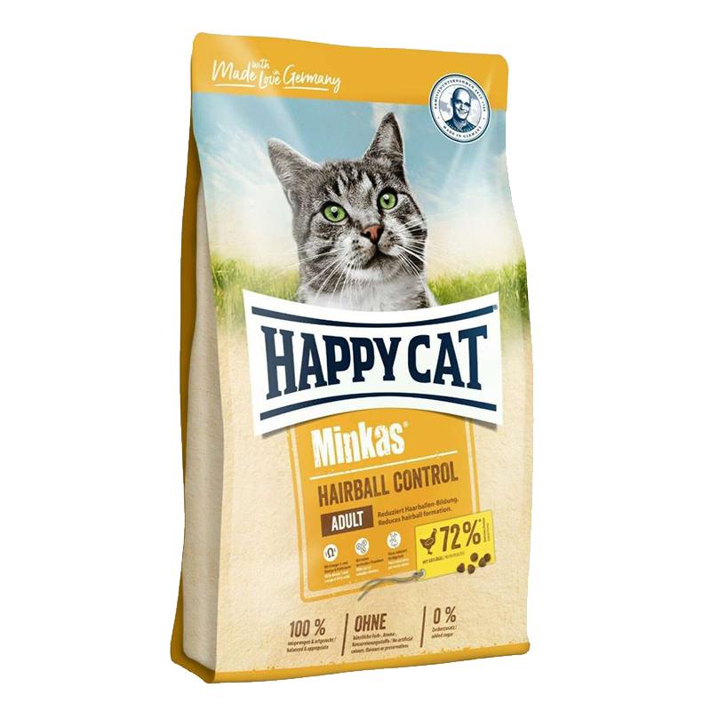غذای خشک گربه مینکاس هیربال هپی کت وزن 10 کیلوگرم