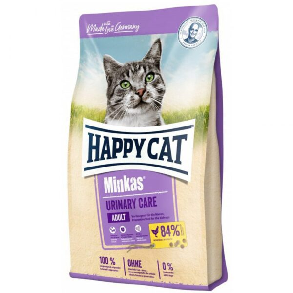 غذای خشک گربه مینکاس یورینری هپی کت Minkas Urinary Care وزن 10 کیلوگرم