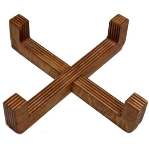 پایه چوبی ظرف آب و غذای سگ و گربه مناسب ظرف تا قطر 13 سانتی متر
