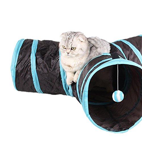 تونل گربه 3 راه تاشو به همراه توپ بازی