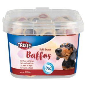 تشویقی سگ با طعم بیف و سیرابی برند تریکسی وزن 140 گرم