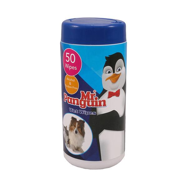 دستمال مرطوب مناسب سگ و گربه برند مستر پنگوئن