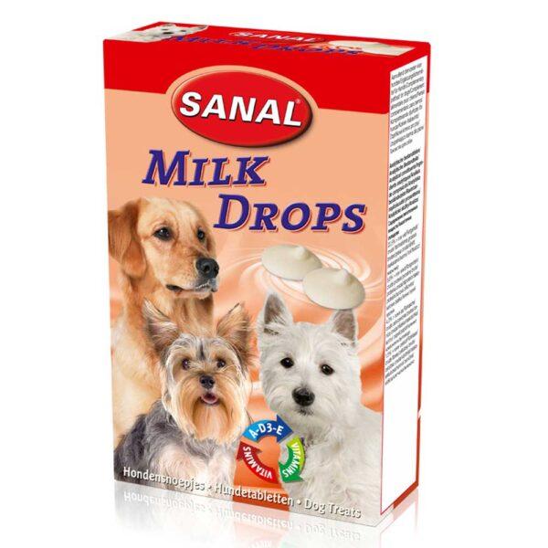 قرص شیری مناسب سگ مدل قطره ای برند سانال 125 گرمی