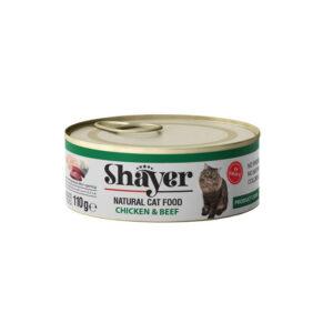 Shayer cat food chicken beef