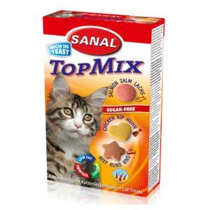 قرص ویتامینه TopMix مناسب گربه برند سانال 50 گرمی