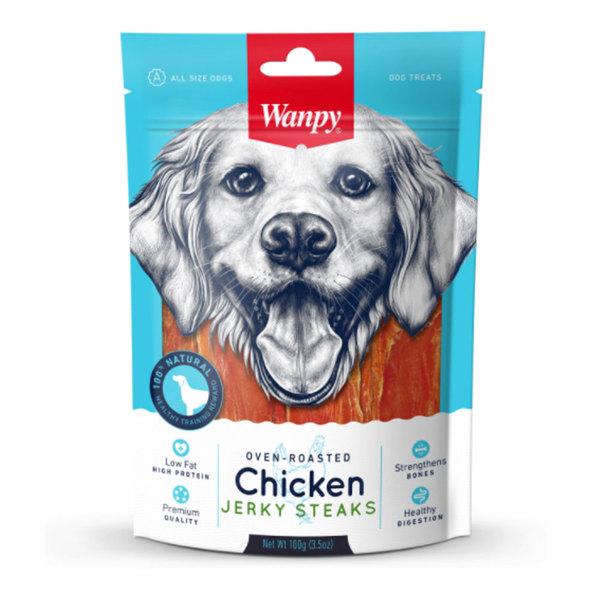 تشویقی مناسب سگ با طعم گوشت مرغ مدل Jerky Steaks برند ونپیتشویقی مناسب سگ با طعم گوشت مرغ مدل Jerky Steaks برند ونپی