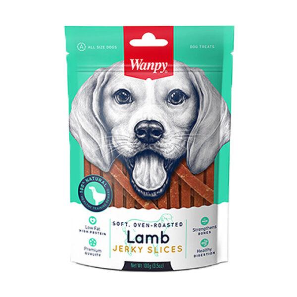 تشویقی مناسب سگ با طعم گوشت بره مدل Jerky Slices برند ونپی