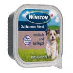 خوراک کاسه ای مناسب سگ بالغ با طعم گوشت گوساله و مرغ برند وینستون