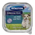 خوراک کاسه ای مناسب سگ بالغ با طعم گوشت برند وینستون