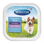 خوراک کاسه ای مناسب سگ بالغ با طعم گوشت بره و بوقلمون برند وینستون
