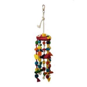اسباب بازی آویز چوبی رنگی پرندگان