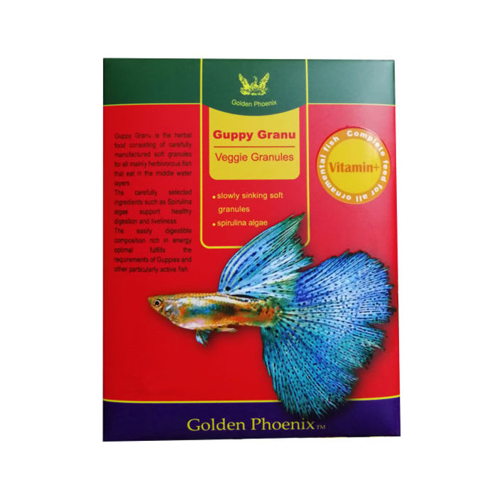 غذای خشک مناسب ماهی گلدن فونیکس مدل گوپی گرانول