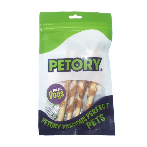 تشویقی مدادی رولی سگ با طعم مرغ برند Petory
