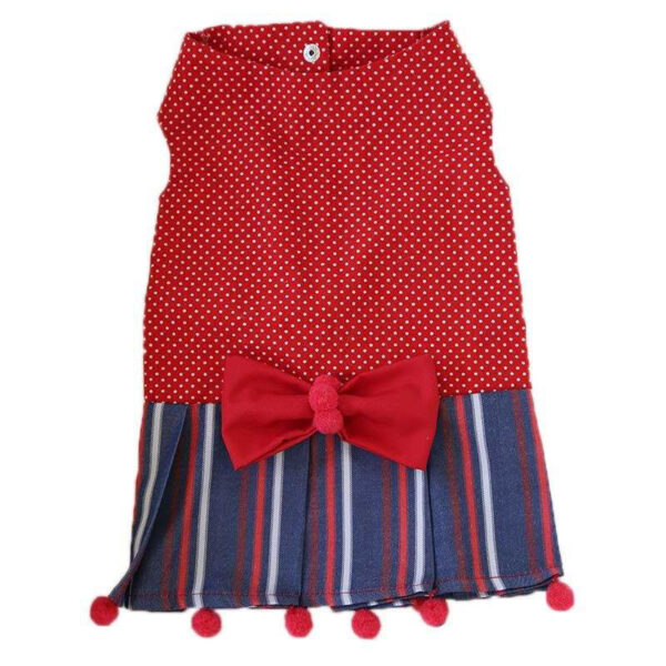 red with bow tie dress empty dot model for cat