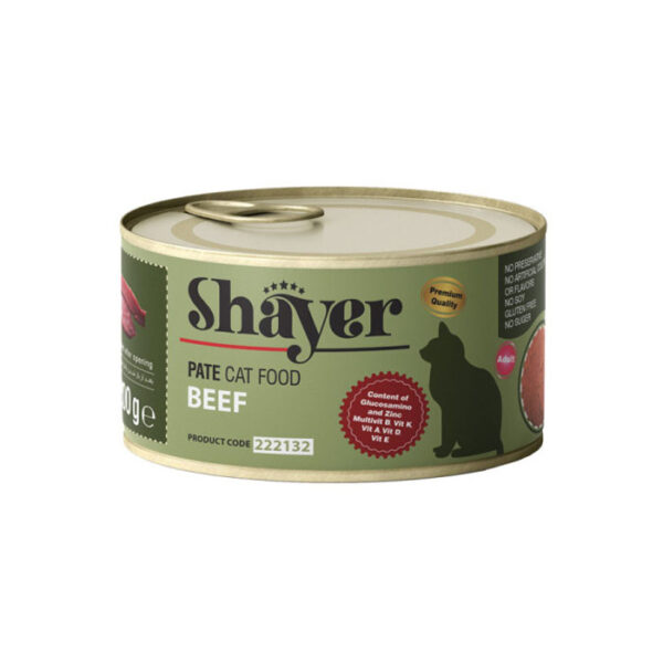 shayer pate cat food beef