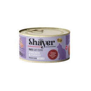 shayer pate cat food chicken & turkey