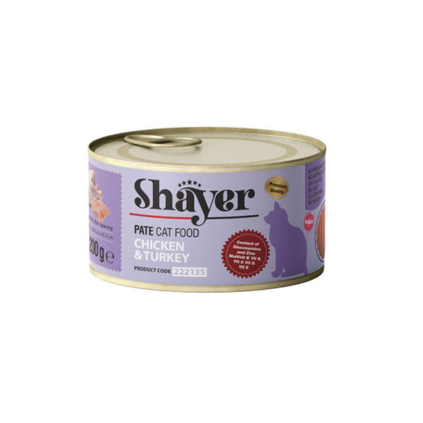 shayer pate cat food chicken & turkey